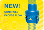 NEW! Controls Excess Flow